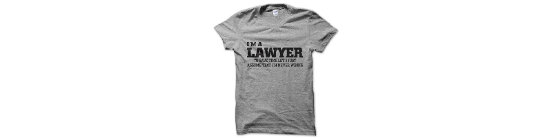 Camiseta abogado nunca se equivoca