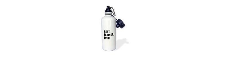 Botella deportiva abogados abogado runner gimnasio correr