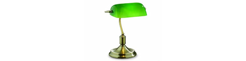 lámpara de abogado banquero verde escritorio cristal