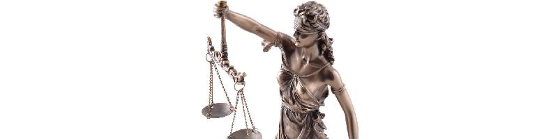 Diosa de la Justicia figura bronce comprar barata